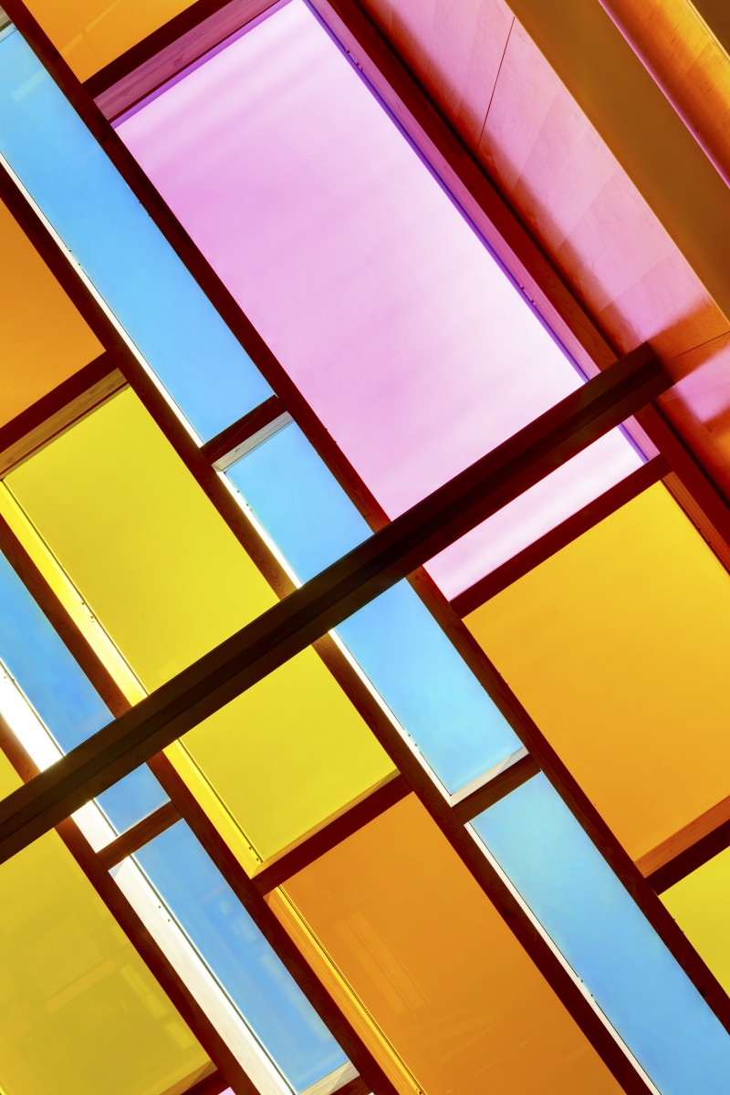 coloured glass roof