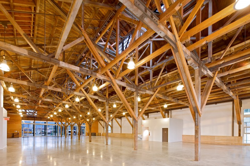 long-span timber trusses