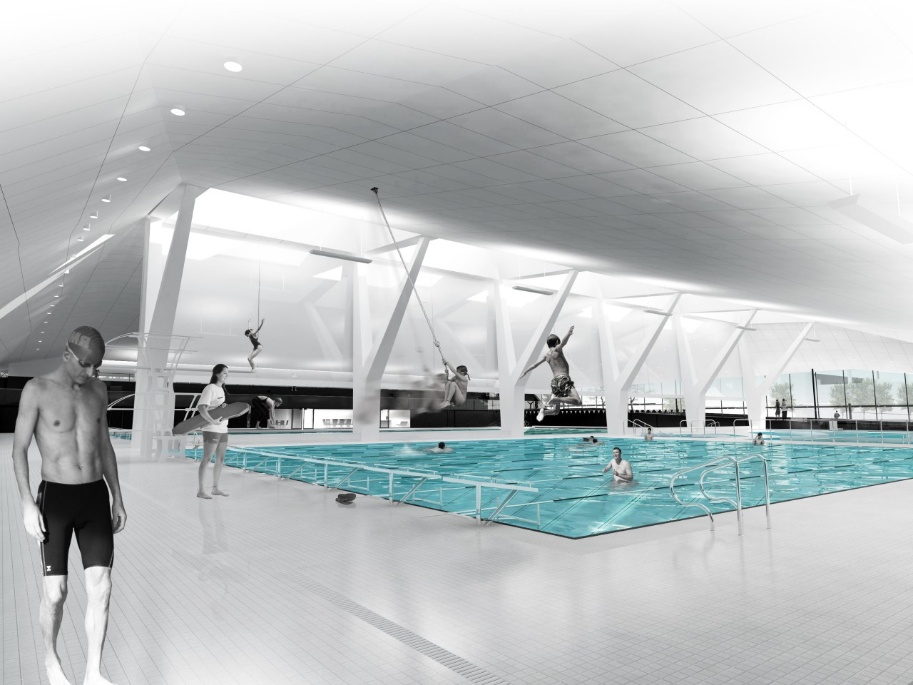 Ubc aquatic centre architectural design project vancouver for Pool design education