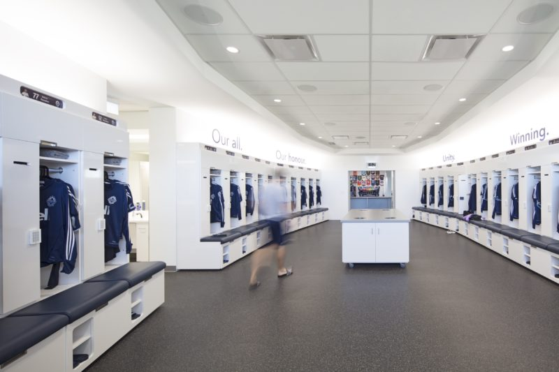 Whitecaps FC locker room