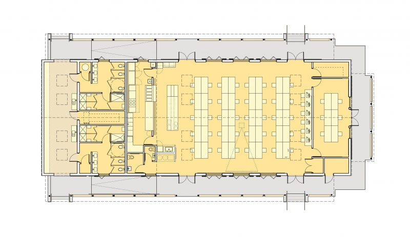 learning & dining hall plan