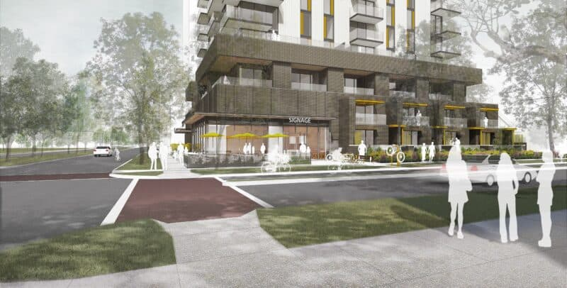 retail and townhomes