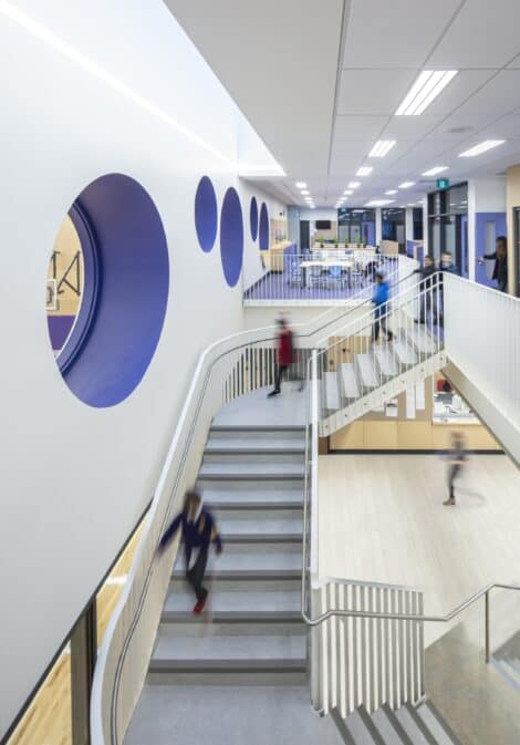 Lannon Hall feature stair
